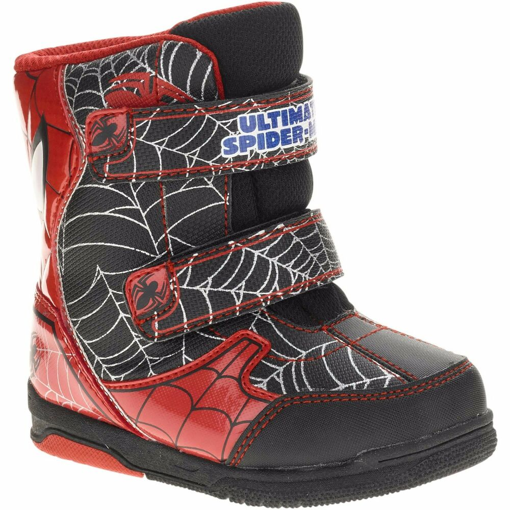 NEW NWT Toddler Boys Marvel Ultimate Spider-man Snow Boots ...