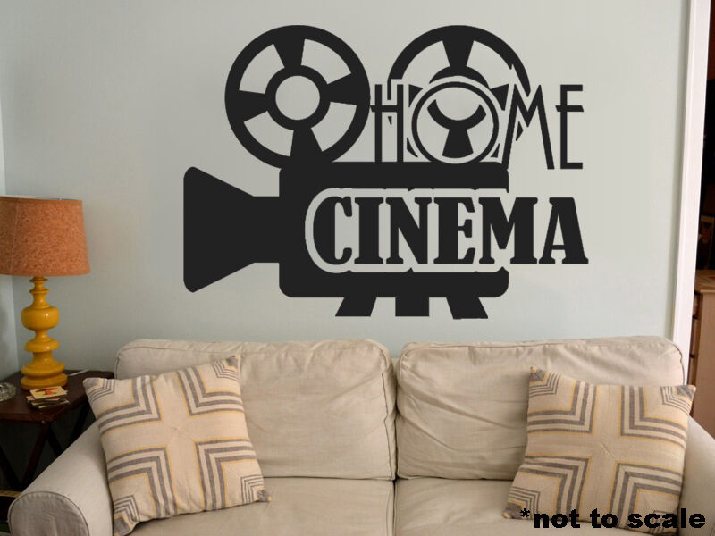 home cinema interior wall sticker decal vinyl decor theater movies actor poster ebay. Black Bedroom Furniture Sets. Home Design Ideas