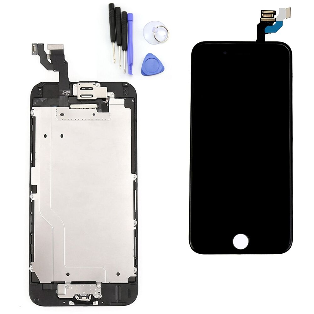 for iphone 6 4 7 full lcd touch screen digitizer home button camera flex an ebay. Black Bedroom Furniture Sets. Home Design Ideas