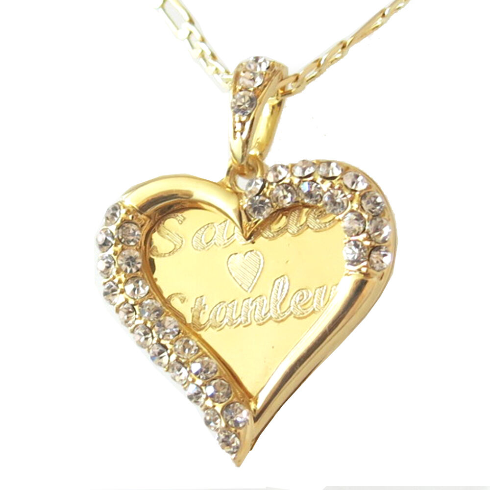 Personalized 18th Birthday Necklace Initial Custom: Custom Personalized Name Necklace 18 K Gold Plated