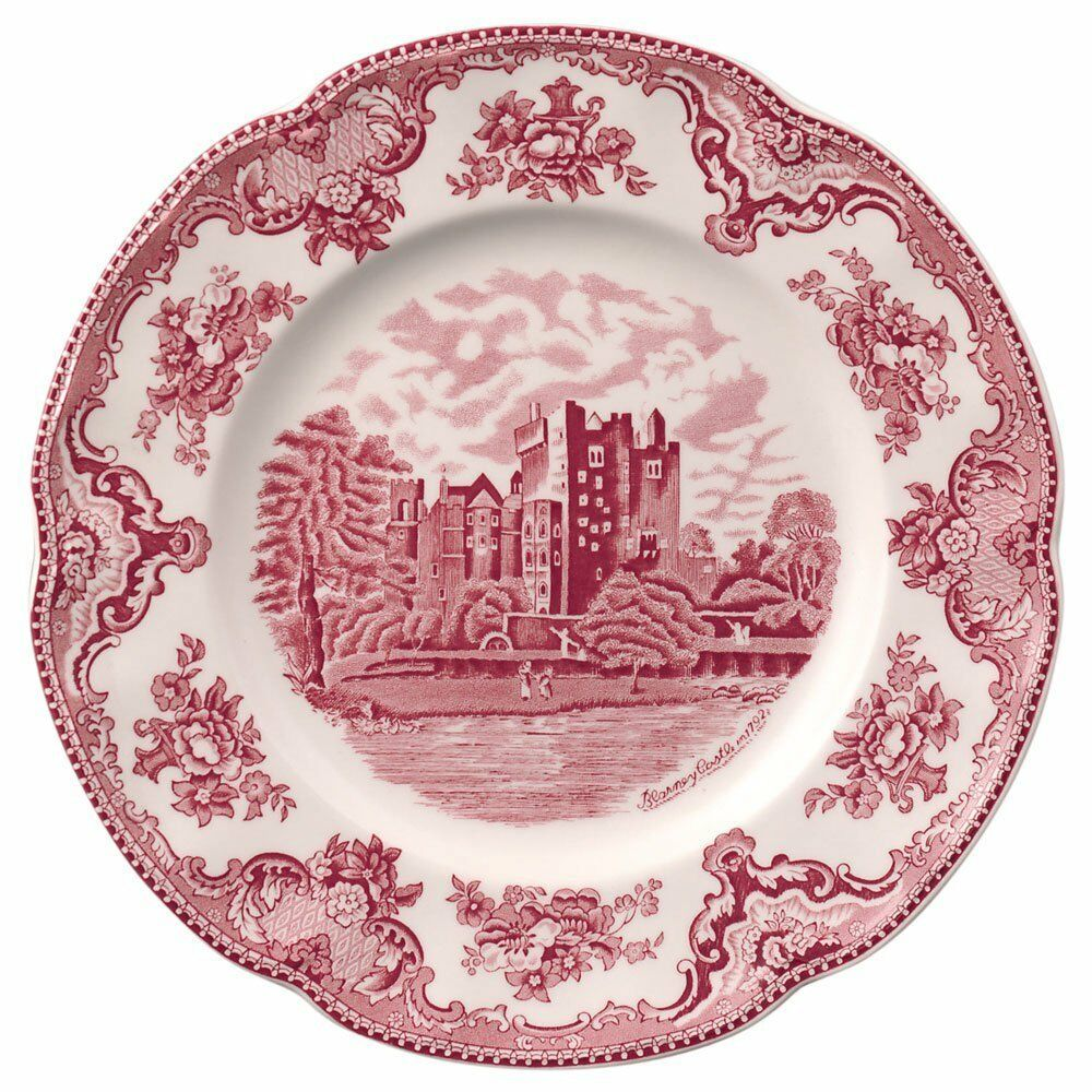 Details About Johnson Brothers Old Britain Castles Pink Dinner Plates Set Of 4 New