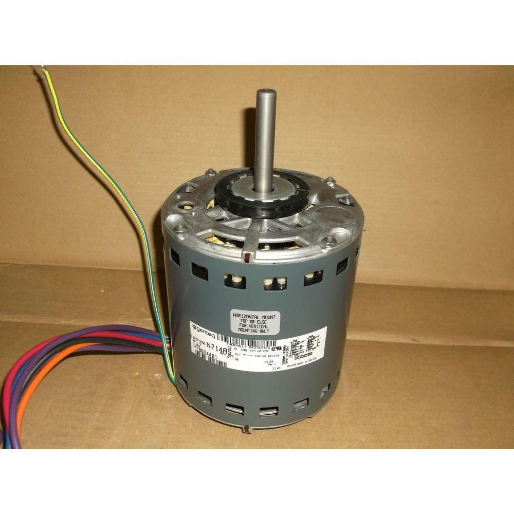 Genteq 86g44 5kcp39sgn714as 1 2 hp blower motor 460 60 1 for 2 hp blower motor