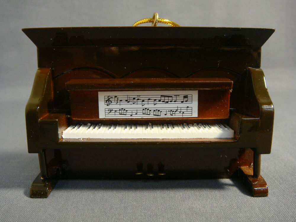 BROWN UPRIGHT PIANO MUSICAL INSTRUMENT ORNAMENT NEW P06-H ...