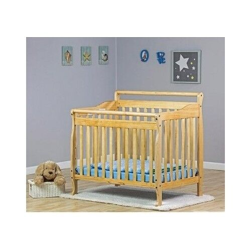 compact convertible crib natural pine wood toddler day bed