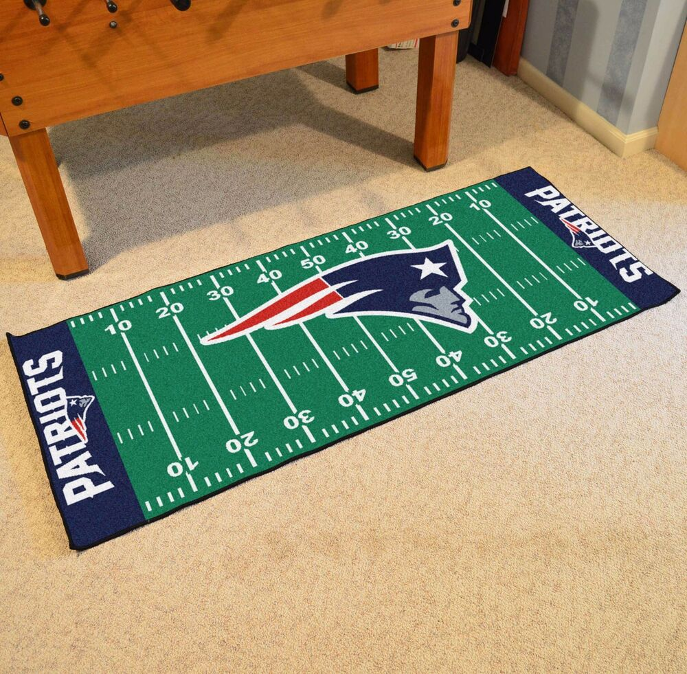 Nfl Area Rugs: New England Patriots NFL Football Field Runner Man Cave