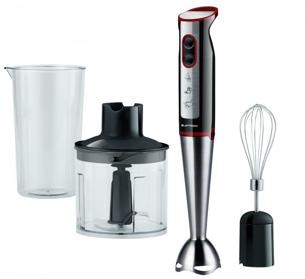 laptronix 3 in 1 hand blender free food processor mixer bowl egg whisk beaker ebay. Black Bedroom Furniture Sets. Home Design Ideas