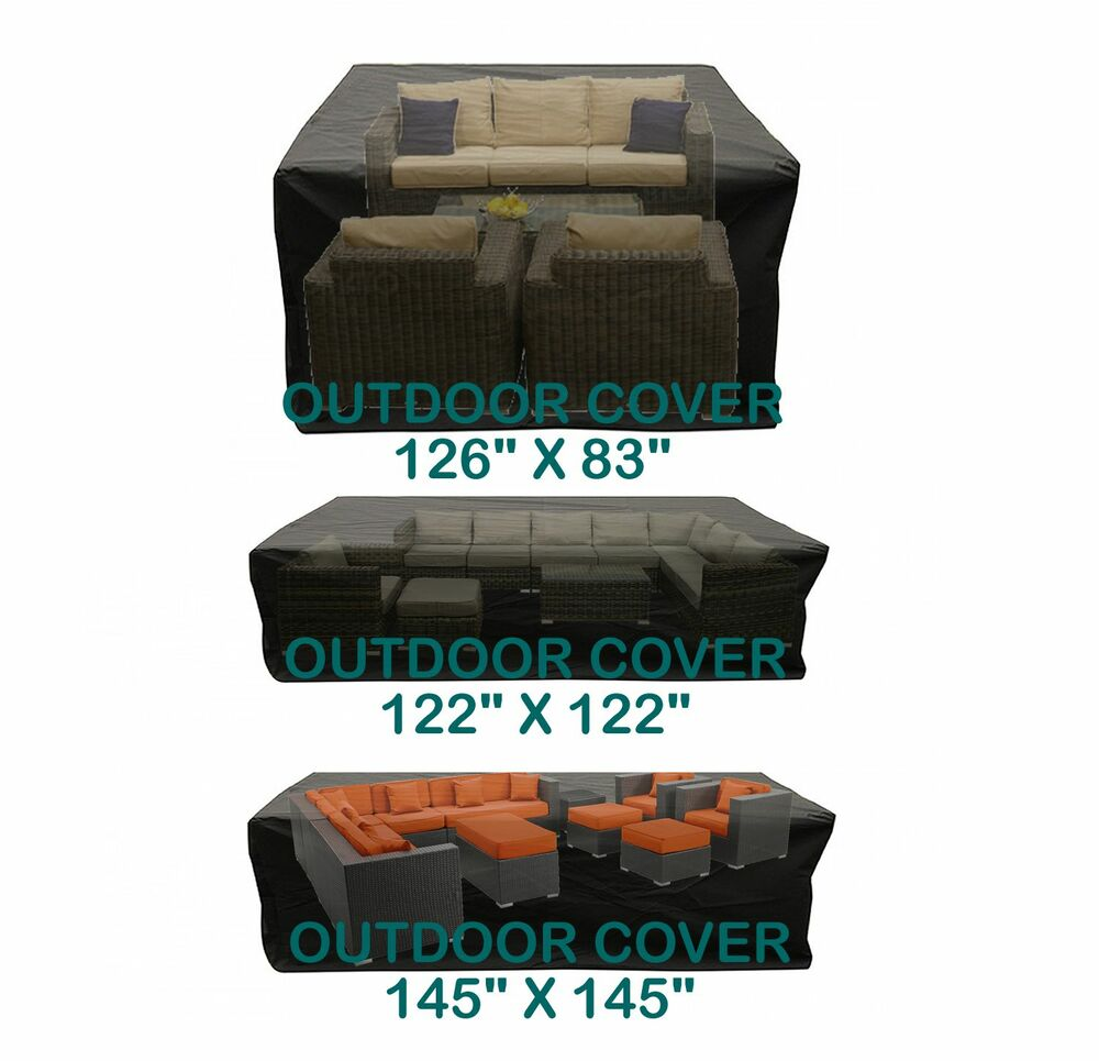 Outdoor Patio Furniture Cover Garden Sofa Sectional Rattan