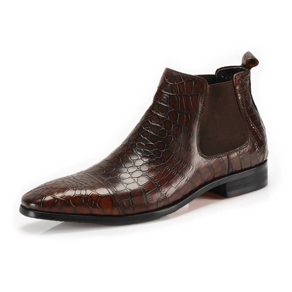 Casual pull on brogue ankle boots business shoes chelsea ebay