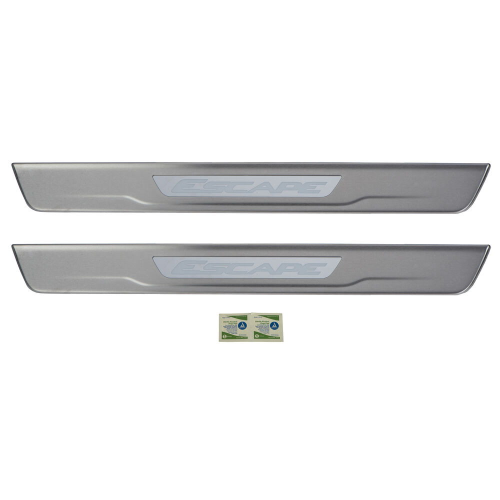2013 2016 Ford Escape Front Door Sill Plates Non Illuminated Stainless Steel Oem Ebay
