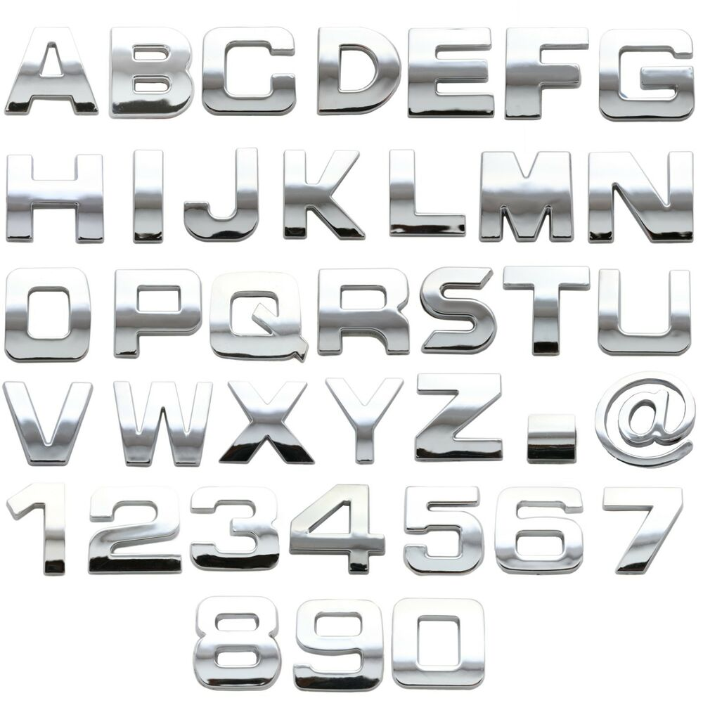 Create Your Own Personalised 3d Sign Chrome Numbers