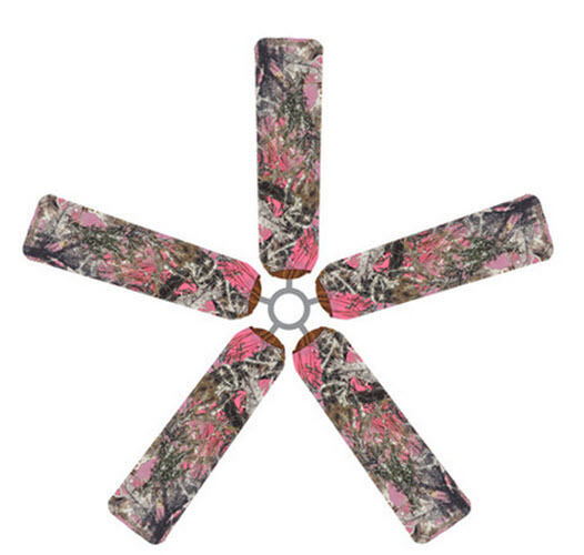Ceiling Fan Blade Fabric Cover Pink Camouflage Home Decor