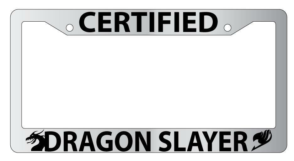 Chrome License Plate Frame Certified Dragon Slayer Auto Accessory ...