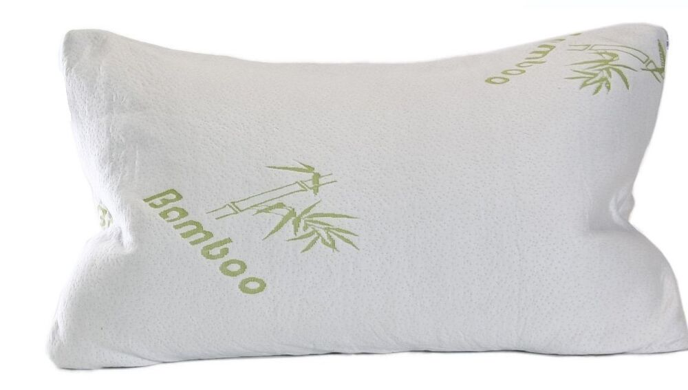 COOL COMFORT ULTRA PLUSH BAMBOO PILLOW MEMORY FOAM QUEEN CHOICE OF 1 OR SET OF 2 eBay