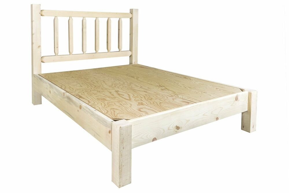 Amish Made Platform Beds Rustic Queen Platform Bed