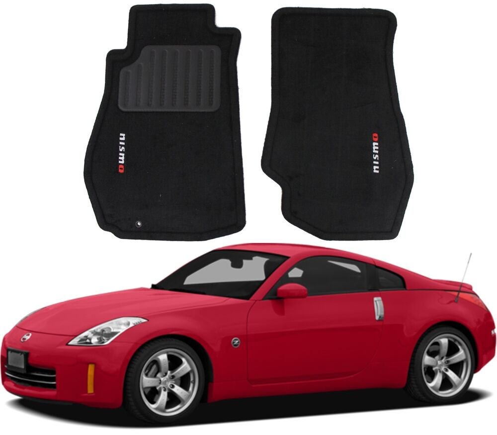 Genuine Nismo Black Carpeted Floor Mats For 2003 2009 Nissan 350z New Free Ship Ebay