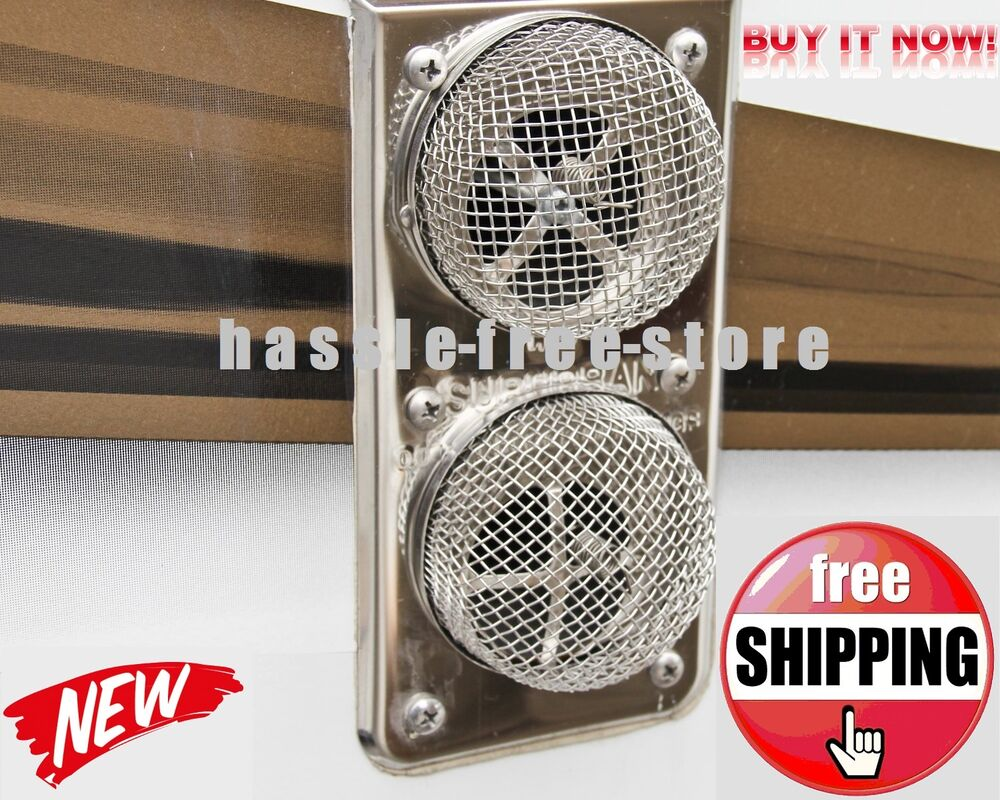 Rv Trailer Camper Motorhome Fly Insect Screen 2pc Protect
