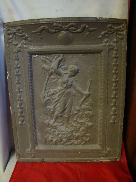 antique late 1800 s cast iron fireplace cover ornate