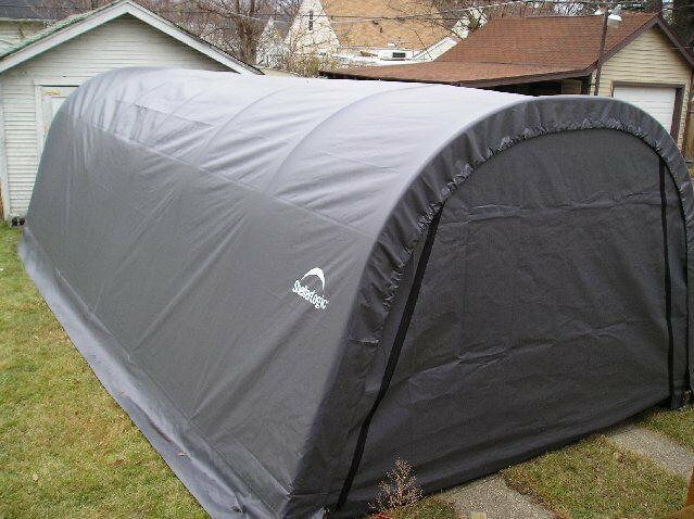 Portable Garage Replacement Covers : Shelterlogic replacement cover round gray