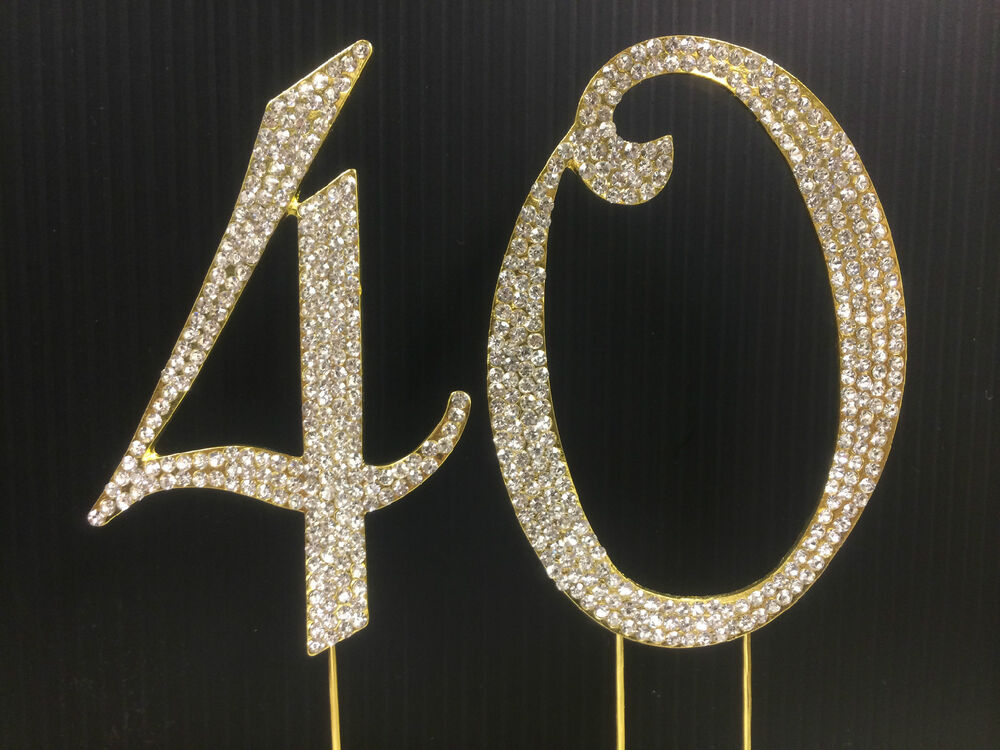 gold cake toppers gold rhinestone number 40 cake topper 40th birthday 4525