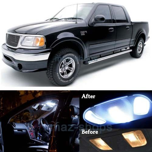 16x Pure White Interior Led Lights Package Kit For 1997 2003 Ford F150 F 150 Mp Ebay
