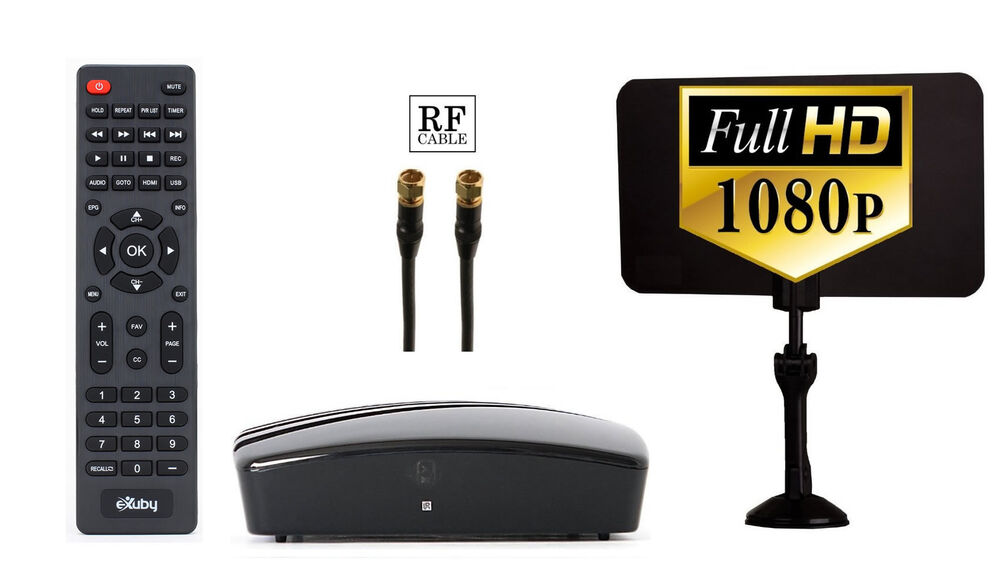 Digital Converter Box Hd Antenna Rf And Rca Cable To