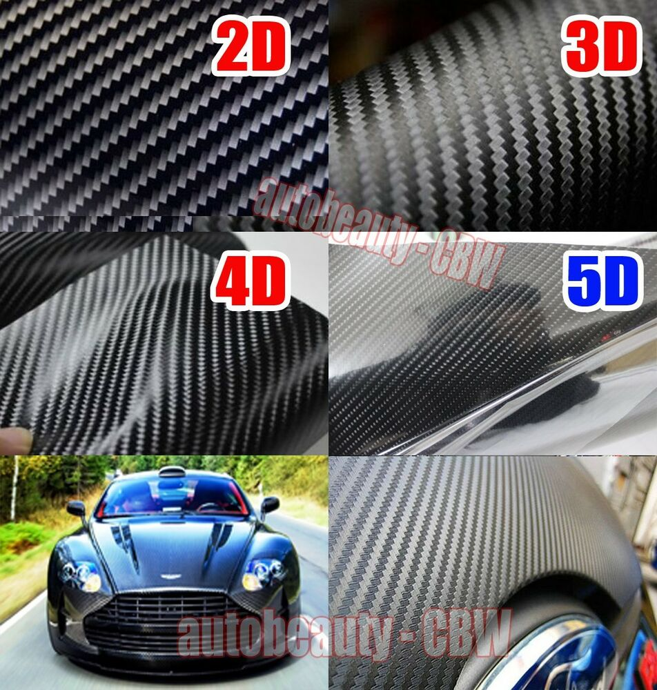 Car carbon sticker design - Worldside Cbw Car Gloss 2d 3d 4d 5d Carbon Fiber Sheet Wrap Vinyl Sticker Film Ebay