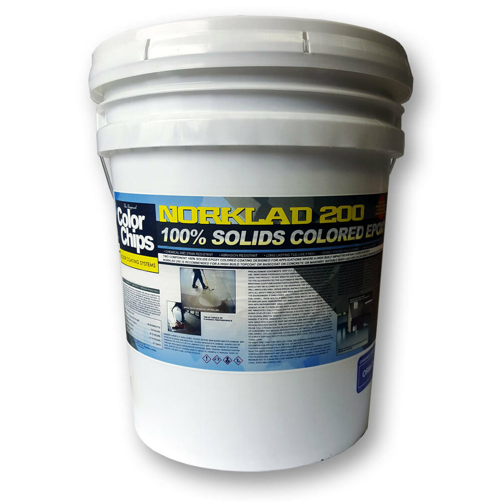 Epoxy Paint Chips : Norklad solids epoxy garage floor paint