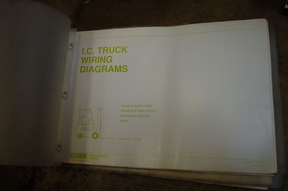 Clark Ic Lift Truck Forklift Wiring Diagram Schematic Manual Electric Service