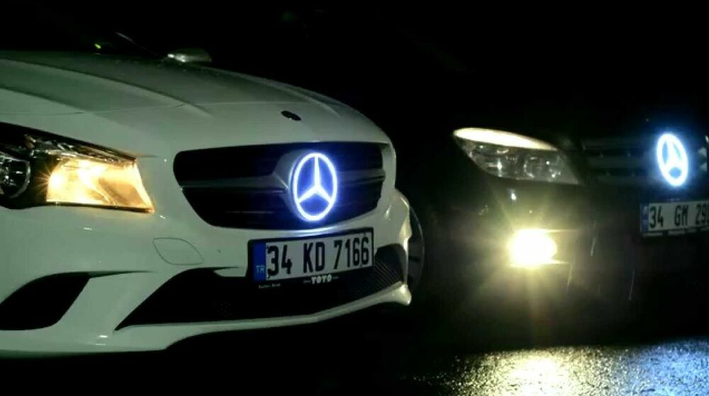 Mercedes benz led illuminated star badge emblem slk 350 for Mercedes benz led star