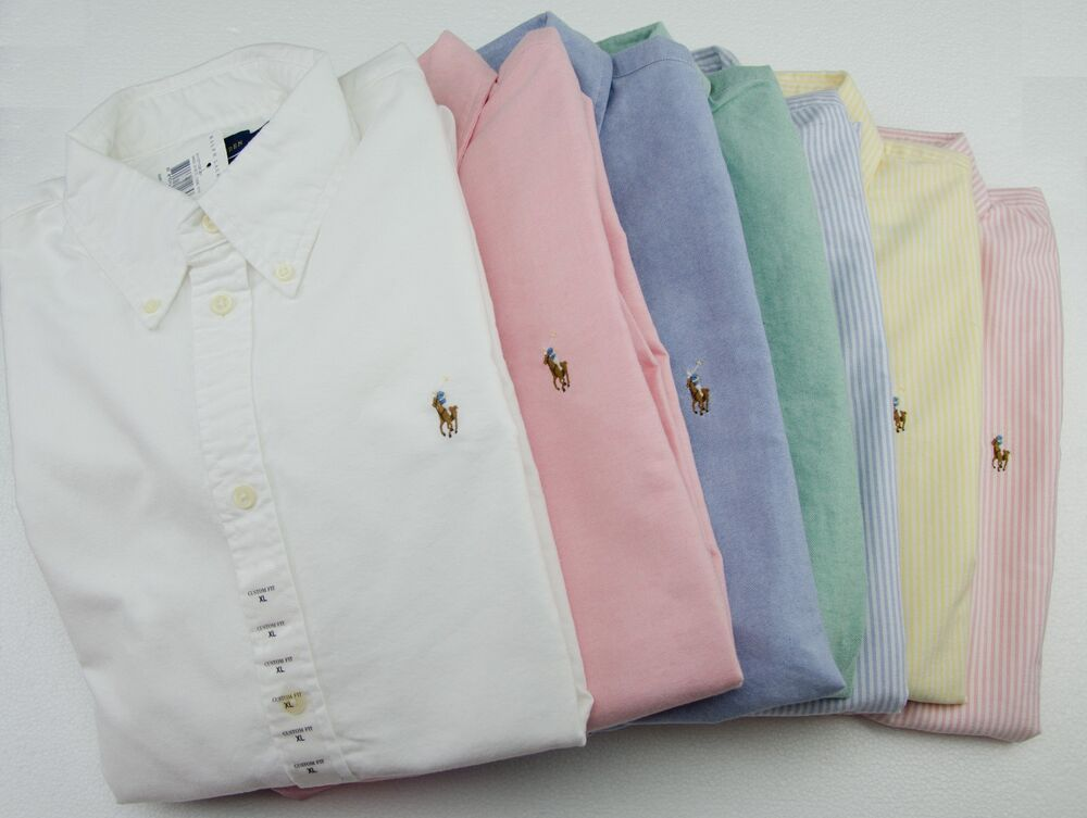 Nwt polo ralph lauren womens custom fit oxford long sleeve for Womens button down shirts fitted