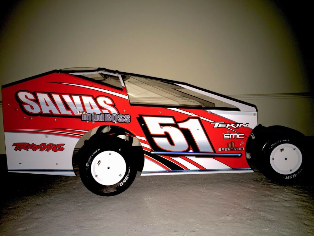 2018 Salvas MudBoss PreCut Dirt Modified Body For Traxxas