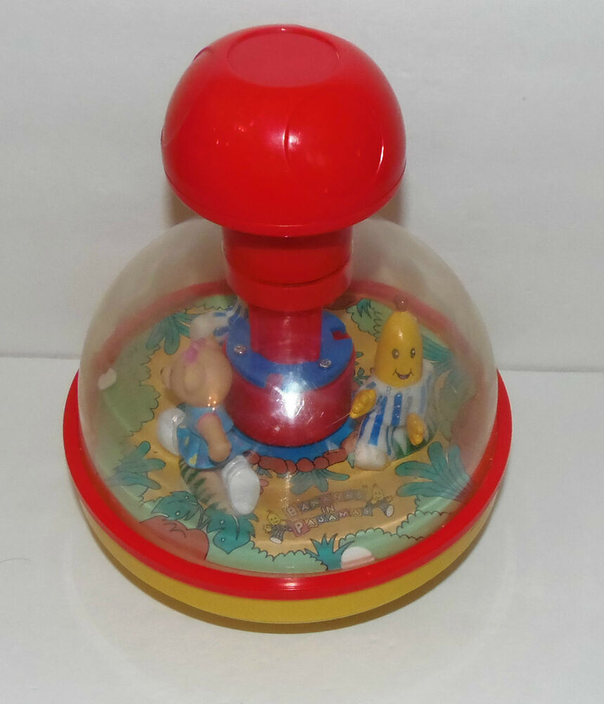 Vintage Bananas In Pajamas Push And Spin Musical Toy