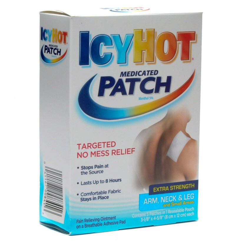 Icy Hot Patch Medicated Pain Patch Small 5 Per Box Ebay