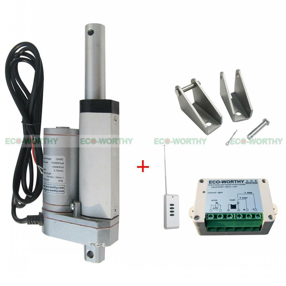 50mm 2 Inch 12v Linear Actuator Motor W Remote Control