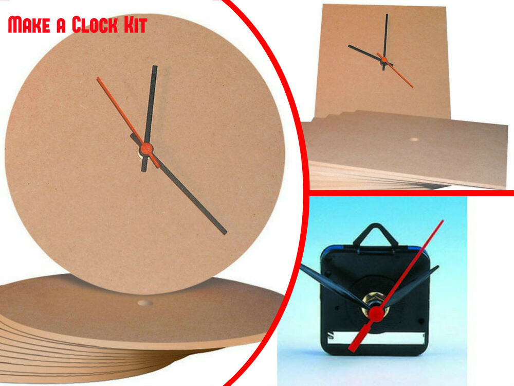 Make a Clock Kit .Quartz kit, Square MDF and Circular MDF ...