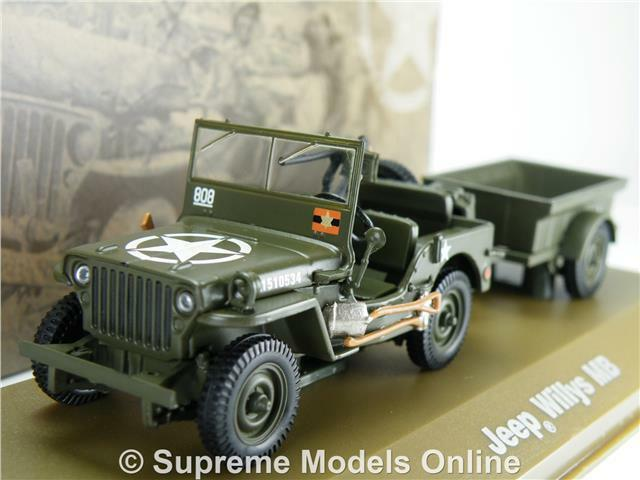 jeep willys mb army military model car trailer 1 43. Black Bedroom Furniture Sets. Home Design Ideas
