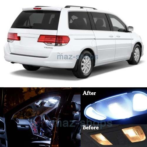 11pcs White Led Smd Light Interior Package Kit For 2005 2010 Honda Odyssey Mp Ebay