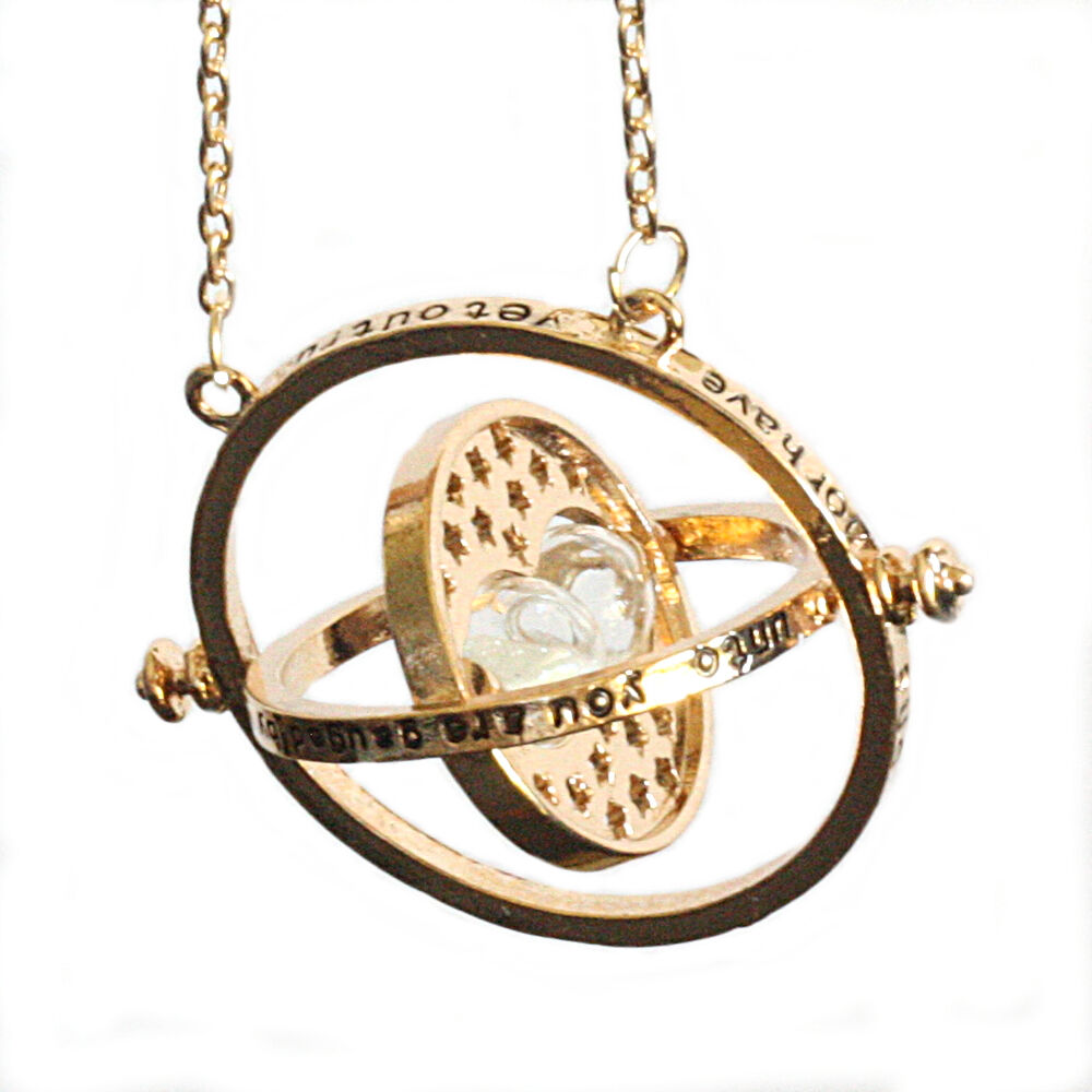 Harry Potter Gold Tone Hourglass Necklace Pendant Hermione ...