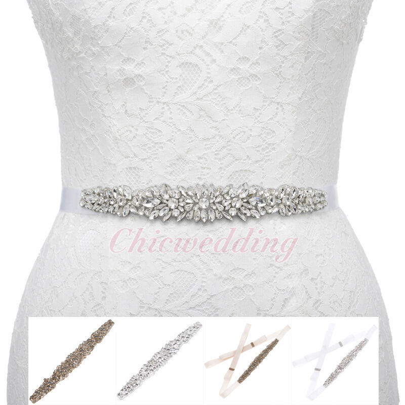 Wedding Dress Accessories Belt : Rhinestones sash belt for wedding dresses bridal accessories