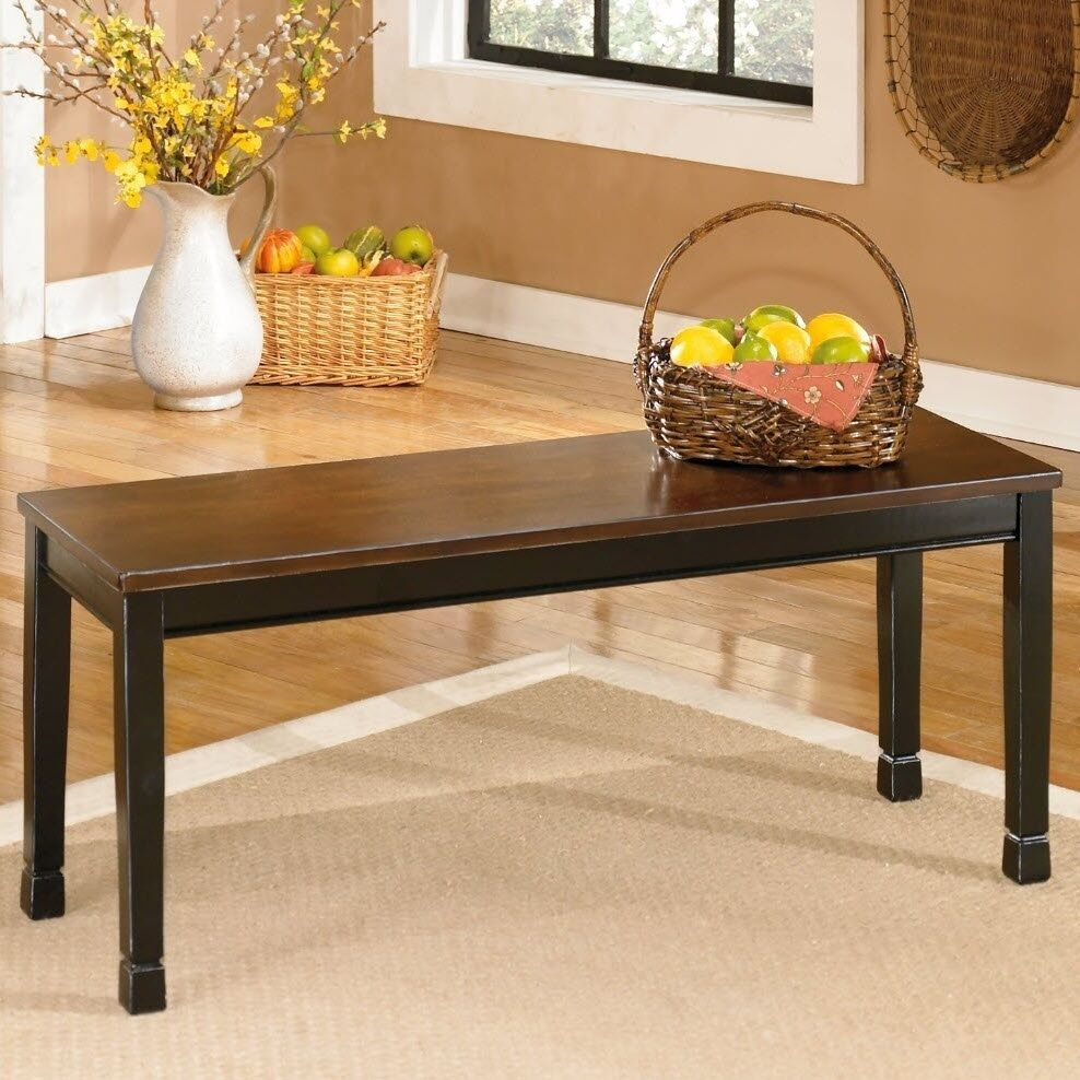 Ashley Signature Design Owingsville Rectangular Dining Bench In Black And Brown Ebay