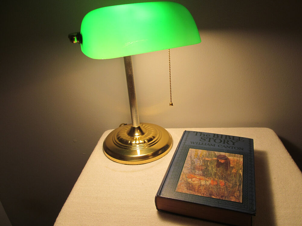Classic Bankers Judges Court Office Desk Lamp Light Brass