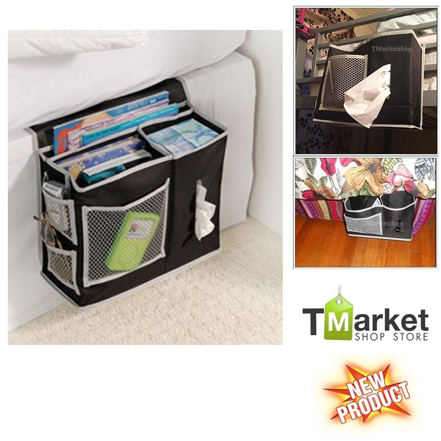 6 pocket bedside dorm room organizer storage holder bag for Sofa organizer