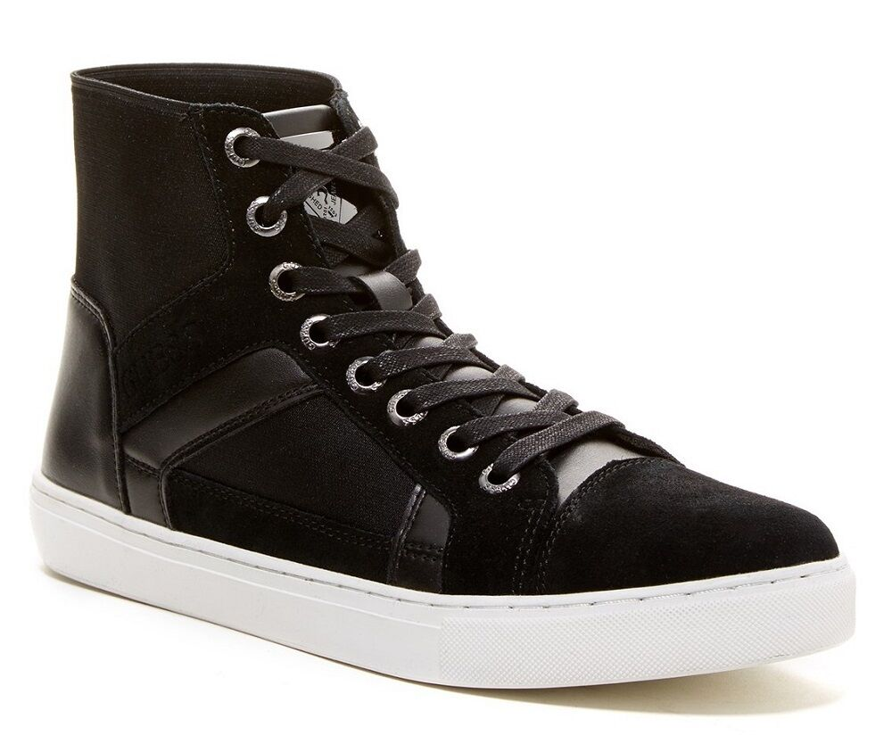 GUESS Toledo Menu0026#39;s Suede Hi-Top Fashion/Athletic Sneaker Shoes Black Size 11.5 | EBay