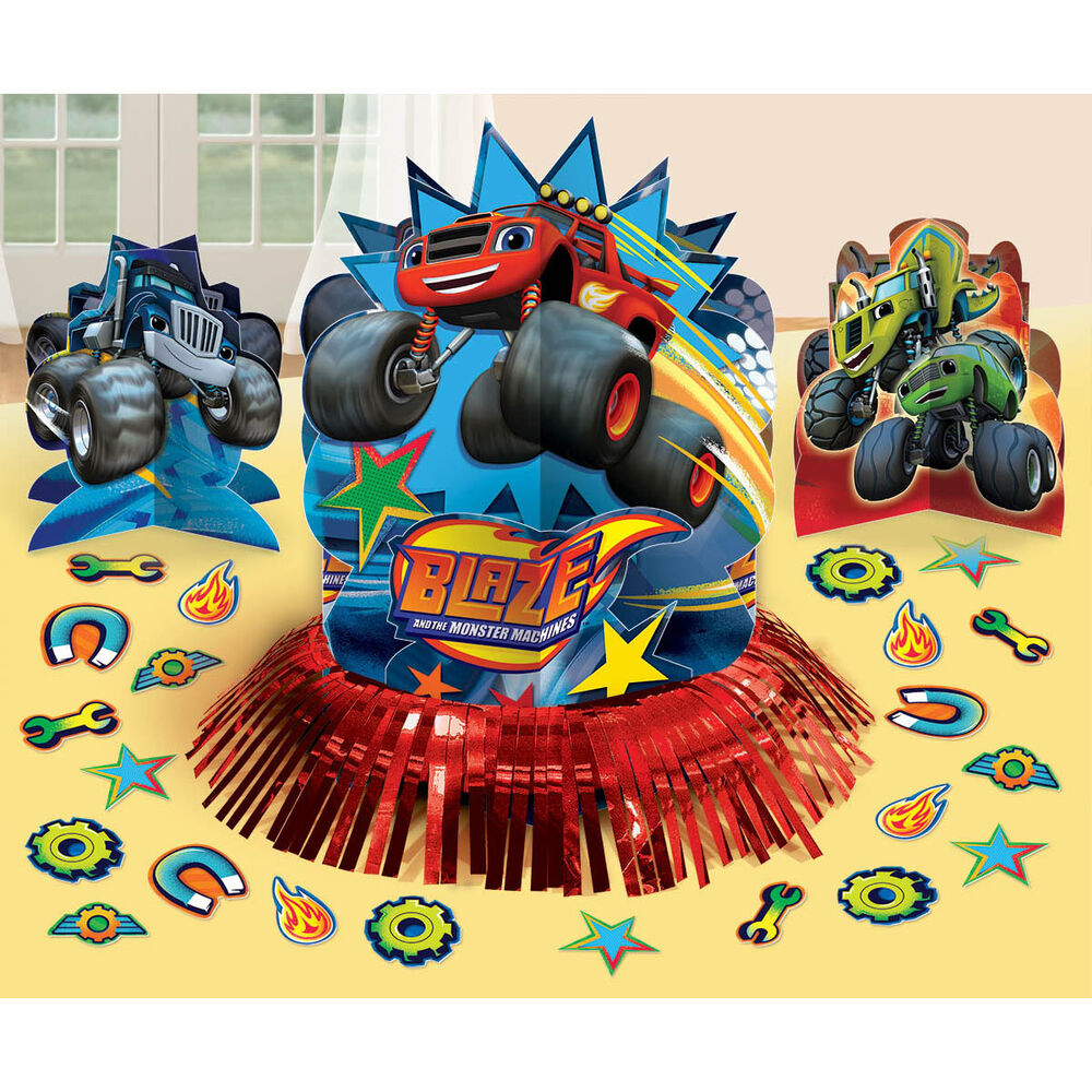 Blaze and the monster machines birthday party table