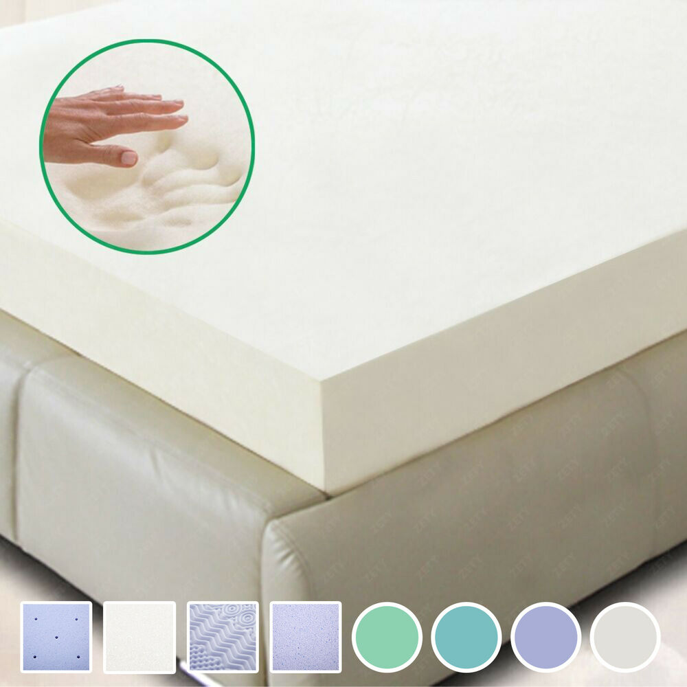 New 5 5 comfort 2 3 4 twin full queen king memory foam mattress topper ebay 4 memory foam mattress topper