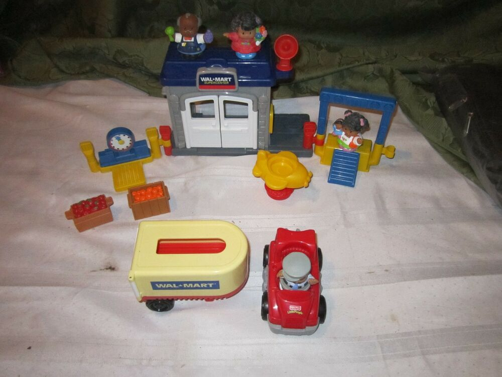 Tow N Go >> FISHER PRICE PLAYSET Little People WAL MART SET SEMI TRUCK WALMART SET | eBay