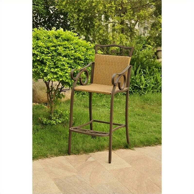 Counter Height Wicker Chairs : ... Caravan Valencia Bar Height Wicker Chair (Set Of 2) eBay