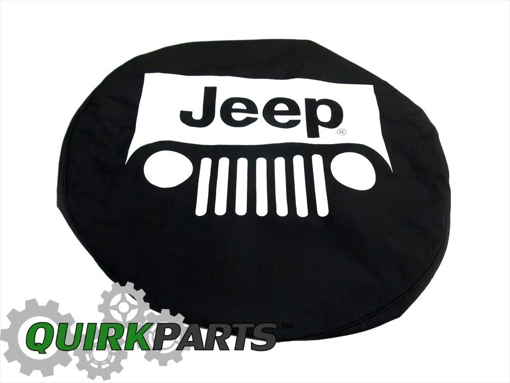 jeep wrangler liberty black with white logo spare tire cover genuine. Cars Review. Best American Auto & Cars Review