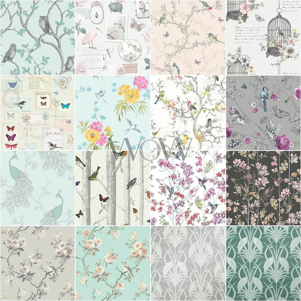 De S About Beautiful Birds Themed Wallpapers In Various Designs Feature Wall Room Decor
