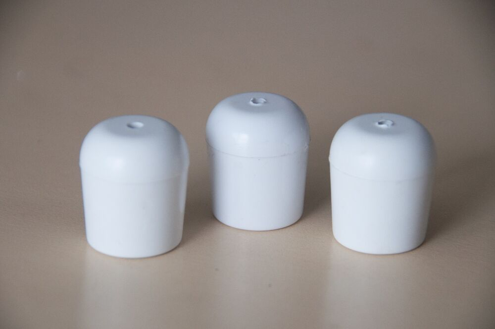 Chair tips 25 white replacement furniture chair foot cap dining restaurant party ebay - Replacement chair leg tips ...